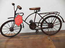 "Vintage-Style Metal Small 19"" x 9"" BICYLE Table Top Decor Man Cave Bike Den"