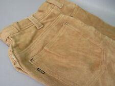 """Vintage Levis Suede Leather Pants Big """"E"""" Sz 27x28"""