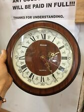 Vintage Chronos Quartz Wall Hang Clock Kienzle Germany Battery Operate Working