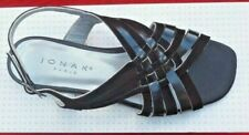 Women's Black Leather & Suede Criss Cross Strappy Slingback Flat Sandals UK4/37