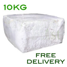 10Kg Bag of Rags - White Wiper Mix Cotton wipers - excellent value for money