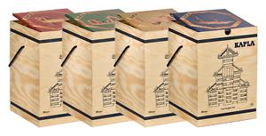 Kapla Box 280 Holzbausteine mit wählbarem Kunstbuch. Neu & OVP vom Fachhändler.