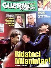 Guerin Sportivo n°21 2001 Vincenzo Montella  - Con Film del Campionato  [GS13]