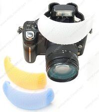 DIFFUSORE X FLASH UNIVERSALE 3 COLORI FOTOCAMERANIKON D3200 D3100 D3000 D5000