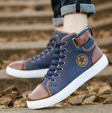 Fashion Mens Oxfords Casual High Top Lace Up Canvas Sneakers Shoes USSize 6.5-12