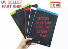 "BOGO FREE 12"" inch LCD Writing Drawing Tablet Pad eWriter Notepad Boogie Board"