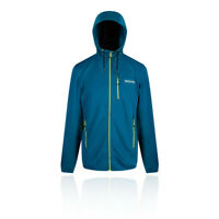 Regatta Mens Tarnis II Hooded Fleece Jacket Top Blue Sports Outdoors Full Zip