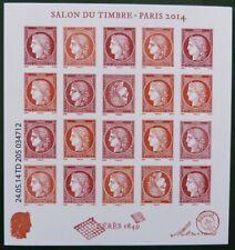 Feuillet Cérès F4871 Salon du timbre 2014