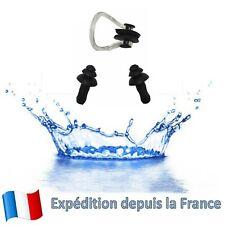 2 X Bouchon D'oreille + 1 X Pince Nez Silicone Protection Auditive Pour Natation