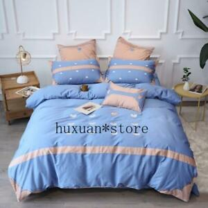 Luxury Egypt Cotton Bedding Set Splicing Duvet Cover Bed Sheet Queen King Size