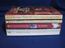 Grace Livingston Hill, Books 14,45,61,68, Gold Shoe, Mystery Flowers, Stranger