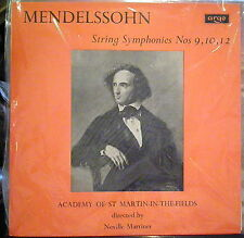 Mendelssohn/Marriner  String Symphonies - 9, 10, 12   Argo
