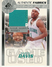 2003-04 UP SP GAME USED ED BARON DAVIS JERSEY AUTHENTIC FABRICS NO HORNETS