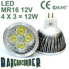 12w 12v MR16 WARM WHITE 3000K LED DOWNLIGHT ENERGY SAVING LIGHT BULB LAMP