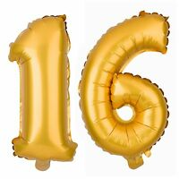 16 Number Balloons Sweet 13 Balloon Numbers Gold Birthday Party Decorations