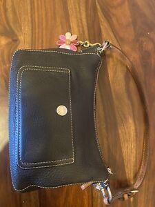 Coach Black Pebbled Chelsea Handbag With Coach Charm