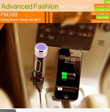 Car Kit Hands-Free SD Wireless Bluetooth FM Transmitter MP3 Player USB + Remote