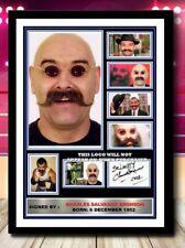 More details for (495) charles salvador bronson gangster signed a4 photograph framed/unframed pp