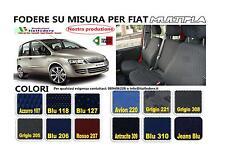 Coprisedili Fodera Set Completo su Misura per Fiat Multipla in Cotone