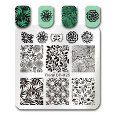 BORN PRETTY Nail Art Stamp Plates Floral Flower Leaf Butterfly Templates BP-X25
