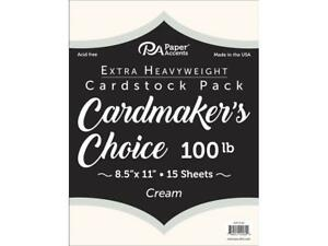 PAPER ACCENTS ADP10184  CARDMAKERS CHOICE 8 5X11 100LB CREAM 15PC