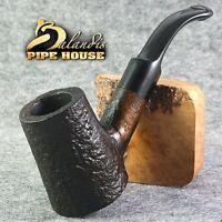 "Original BALANDIS Briar Smoking pipe Hand made Bent Poker "" CAPTAIN "" Brown Hero"