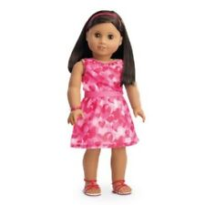 American Girl Retired Red Hearts Ruffle Set for 18