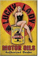 Lucky Lady Motor Oil steel fridge magnet  (de)