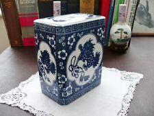 Oriental / Chinese - Dogs Of Fo - Blue & White Porcelain Censor/Incense Burner