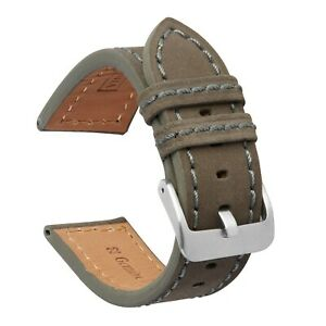 VintageTime Watch Straps - Smooth Suede Calf Leather Replacement Watch Bands