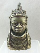 African Tribal Metal Chief or King Head Staff Topper