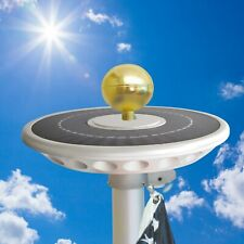 commercial solar top disk flagpole light