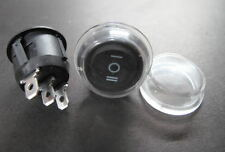 2 ON/OFF/ON Rocker Switch Round + waterproof cover Car Boat Dashboard Dash