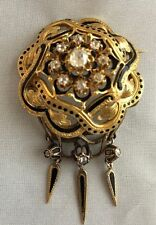 Stunning 18 K Gold Victorian Brooch with Diamonds