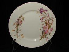 Antique 1894 Limoges Porcelain Salad Plate ~ 1894 Deliniers & Company Floral