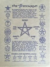 THE PENTAGRAM QUICK REFERENCE GUIDE - inc Invoking & Banishing Signs - Pagan