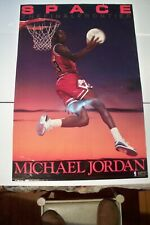 1990 Michael Jordan Chicago Bulls Poster Space The Final Frontier Poster 23.5x35