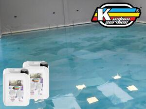 Resina Epossidica Bicomponente Per PAVIMENTI Colorata Lucida 1Kg A+B Cemento