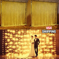 3Mx3M 300 LED Curtain String Fairy Light Lamp Xmas Wedding Party Decor  H H K