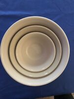 USA Longaberger Woven Traditions Classic Navy Nested Mixing Bowls SET OF 3