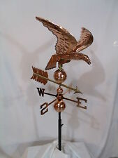 Large Copper Eagle Weathervane has Polished Finish with Free Roof Mount !