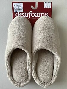 Dearfoam Slippers Large 9-10