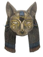 Egyptian Goddess Bastet Mask Wall Plaque Statue Sculpture FATHERS DAY GIFT