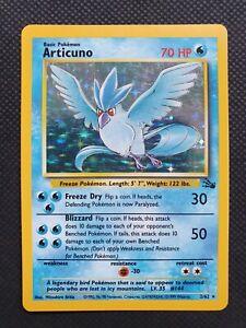 Pokemon Card - Articuno - Fossil Set - Holo Shiny Rare - 2/62