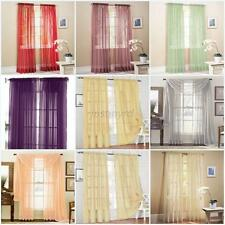 Valances Tulle Voile Door Window Curtains Drape Panel Assorted Scarf Sheer Hot