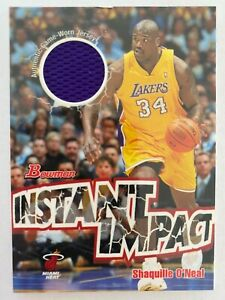 2004-05 Bowman SHAQUILLE O'NEAL Instant Impact Jersey #II-SO
