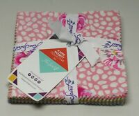 """Kaffe Fassett Collective Free Spirit 42 Pc Charm Pack 5"""" Squares Pink Craftsy"""