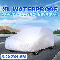 4x4 SUV Car Cover Waterproof Dust Rainproof Sunscreen UV Protection 5.2x2x1.8M