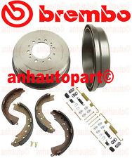 Set 2 Brembo Brake Drums & Brake Shoes for 4Runner Tacoma T100 Tacoma Tundra