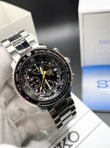 Seiko Flightmaster SNA411P1 Chronograph Quartz watch *UK*